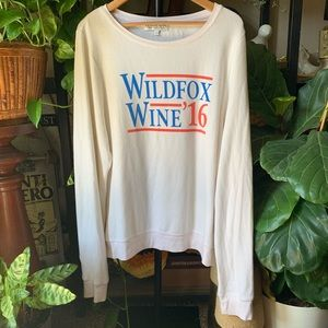 Wildfox wine 2016 long sleeve top